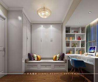 80平米三室两厅田园风格衣帽间设计图
