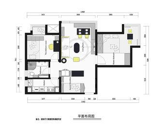 80平米田园风格客厅图片大全