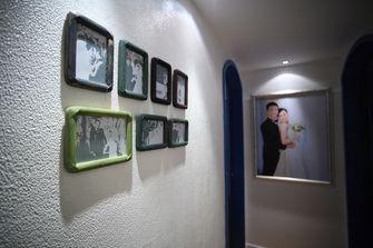 100平米三室一厅田园风格走廊图片
