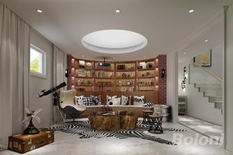 140平米三室两厅新古典风格书房图片大全
