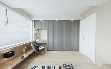 140平米复式混搭风格书房设计图