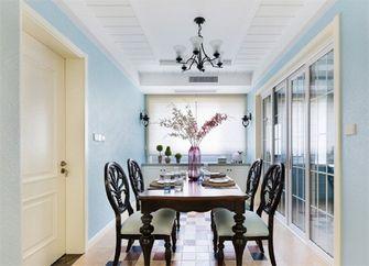 140平米三室一厅田园风格餐厅图片大全
