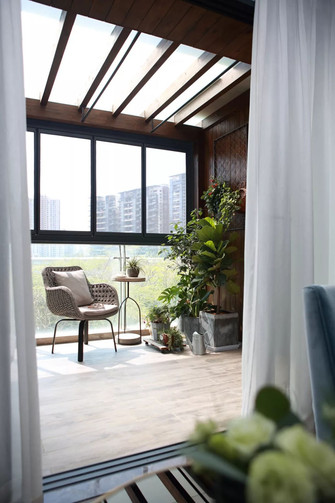 130平米美式风格阳台设计图