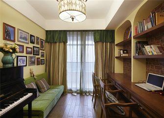 110平米三室一厅田园风格书房图片大全
