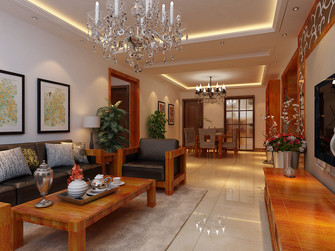 140平米四室一厅东南亚风格客厅装修图片大全