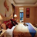 90平米三室一厅东南亚风格卧室设计图