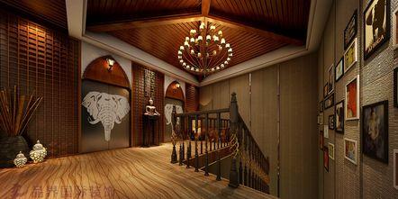 140平米东南亚风格楼梯间图