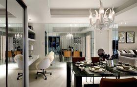 5-10万90平米三室一厅现代简约风格餐厅装修效果图
