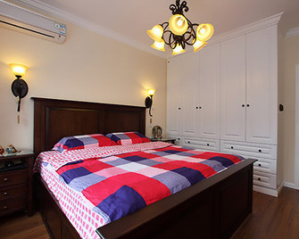 110平米三室一厅田园风格卧室图片