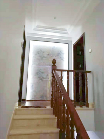 100平米复式混搭风格楼梯间设计图