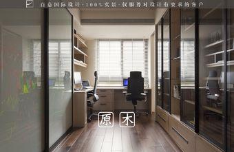 富裕型140平米四室两厅北欧风格书房橱柜设计图