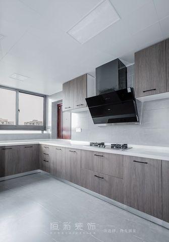 豪华型130平米三室两厅现代简约风格厨房图片大全