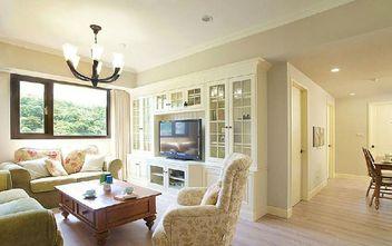 5-10万90平米三室三厅田园风格客厅图片大全