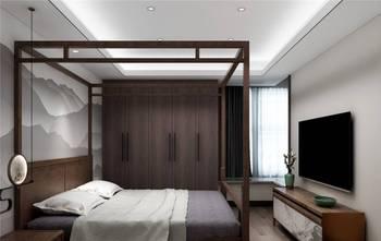 80平米三室两厅中式风格卧室图片大全