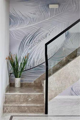 140平米三室两厅现代简约风格楼梯间图