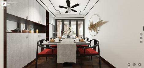 110平米三室两厅中式风格餐厅设计图