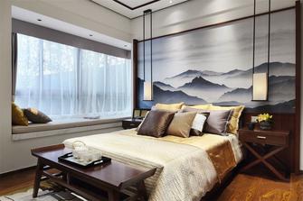 130平米三室三厅中式风格卧室装修图片大全