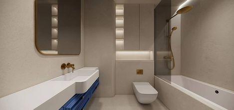 60平米一室两厅法式风格卫生间图