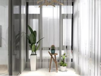 80平米三室三厅现代简约风格阳台效果图