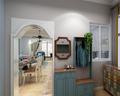 90平米三室一厅地中海风格玄关设计图