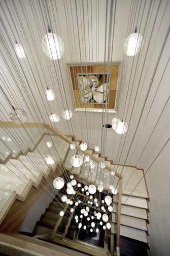 富裕型140平米三室三厅混搭风格楼梯图片大全