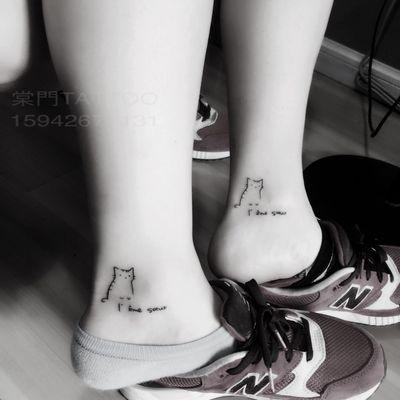 情侣小喵纹身图