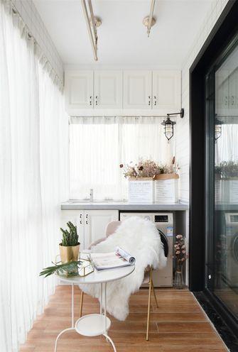 110平米三室一厅美式风格阳台图片