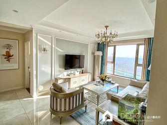 80平米三室两厅英伦风格客厅装修案例