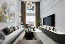 130平米一室三厅现代简约风格客厅图片大全