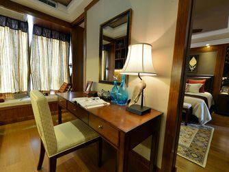 120平米四室一厅东南亚风格书房设计图