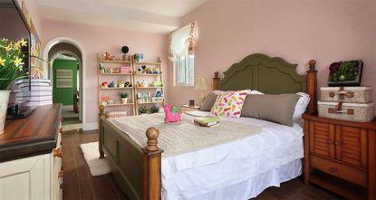 80平米田园风格儿童房装修案例