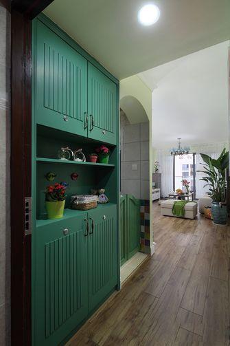 100平米三室一厅田园风格玄关图