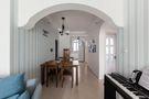 50平米公寓地中海风格餐厅欣赏图