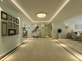 140平米四室兩廳歐式風格玄關圖片