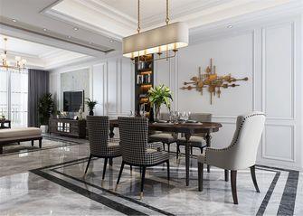 110平米三室两厅美式风格餐厅设计图