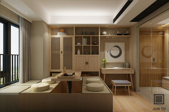 130平米四室两厅日式风格书房装修图片大全