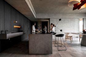 富裕型80平米現代簡約風格餐廳效果圖