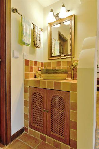 富裕型90平米三室三厅田园风格卫生间装修图片大全