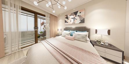 70平米复式现代简约风格卧室设计图