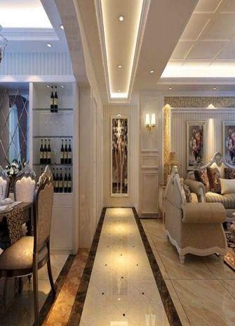 100平米三室五厅现代简约风格客厅图