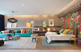 30平米小户型混搭风格卧室装修图片大全