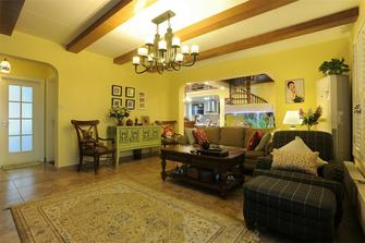 120平米三室一厅田园风格客厅图片