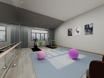 140平米复式中式风格健身室设计图