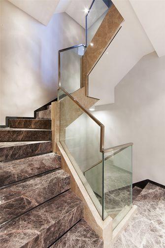 富裕型140平米三室一厅现代简约风格楼梯效果图