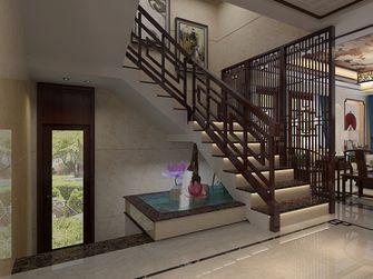 富裕型140平米别墅中式风格楼梯图片