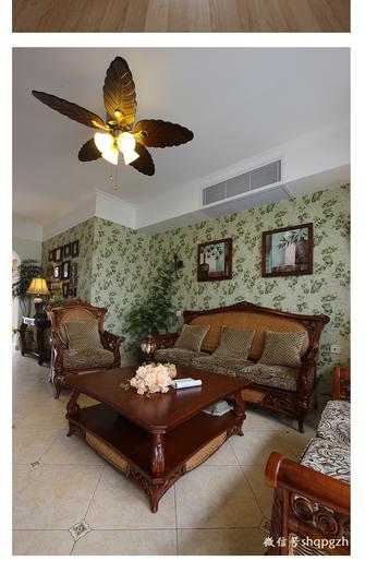 15-20万140平米四室一厅田园风格客厅图片
