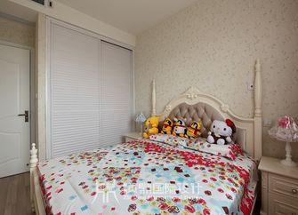富裕型110平米三室两厅田园风格卧室效果图