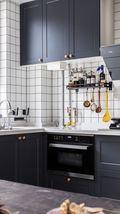 90平米三宜家风格厨房图片