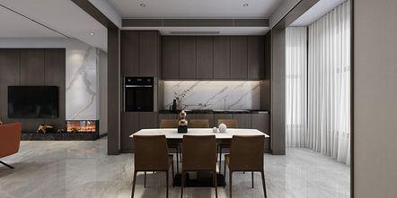 豪华型140平米三现代简约风格餐厅图片大全