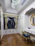 140平米三室两厅欧式风格衣帽间设计图
